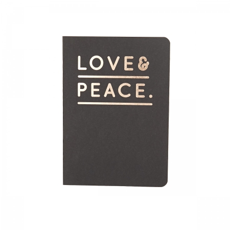 Navucko Notizheft Love&Peace schwarz