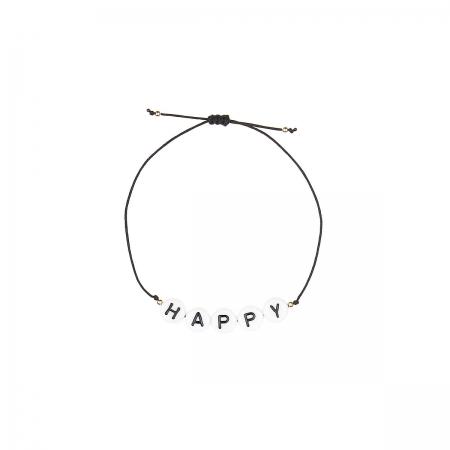 Armband zart HAPPY Buchstaben