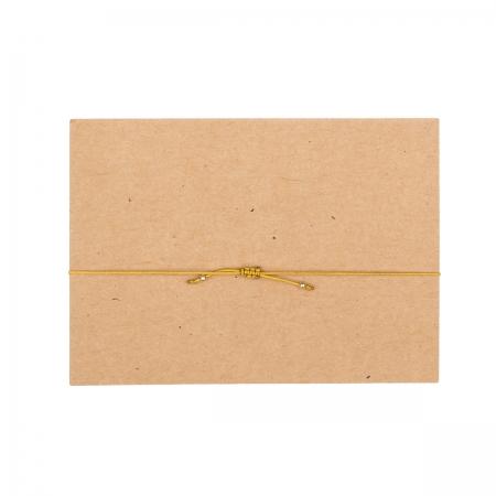 handgefertigtes zartes Armband,  Rückansicht, ockerfarbenes Band, Design by JO&LEO
