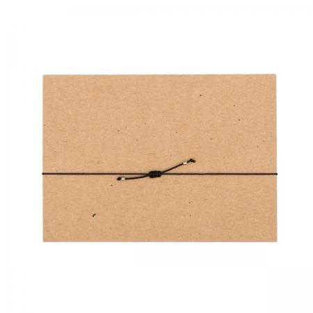 handgefertigtes zartes Armband,  Rückansicht, schwarzes Band, Design by JO&LEO