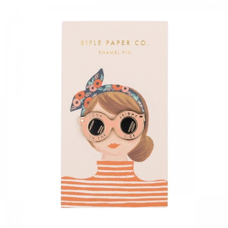 Emaille Pin Look on the bright side Rifle Paper Co.