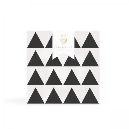 Wandsticker Dreiecke Schwarz Eulenschnitt