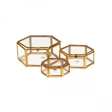 Glasbox Janni Hexagon Varianten von Broste Copenhagen