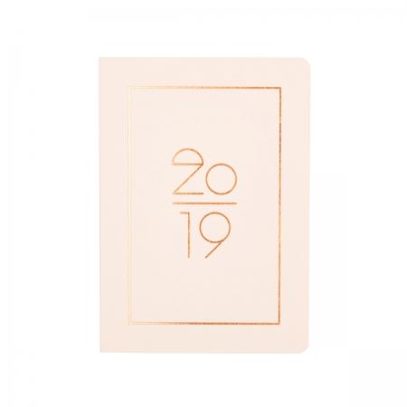 Kalender Pocket Planner 2019  Navucko Hellrosa Front