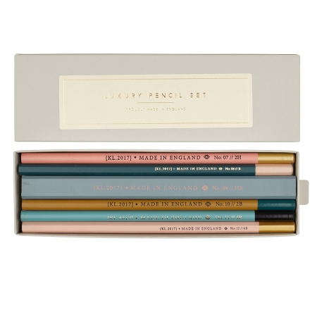 Bleistift Set Luxery Pencil Set Katie Leamon mit Box